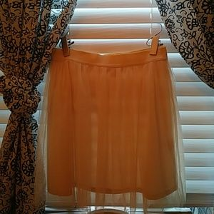 Cream tulle huh waisted skirt